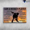 Hockey Player, Hockey Girl - I Am A Hockey Player, I Am Strong, I Am Gutsy, I Am Passionate, I Am Obsessed, I Am Fighter, I Am Smart, I Am Dedicated, I Am Relentless, I Am Brave, I Am Tough, I A Powerful