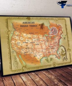 American Map - American Indian Tribes, Knowledge About America's History