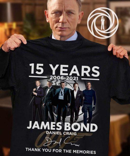 15 years 2006-2021 James bond daniel craig thank you for the memories