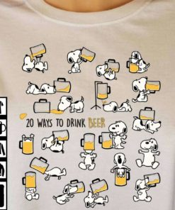 20 ways to drink beer - Snoopy and beer, drunk Snoopy with beer