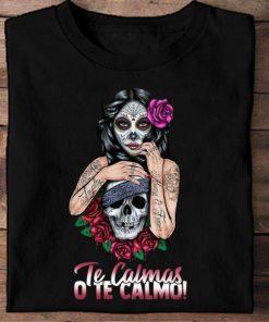 Skull Tattoo Girl - Te calmas o te calmo