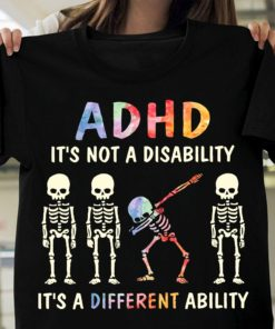 ADHD it's not a disability it's a different ability - Dab skull, ADHD awareness
