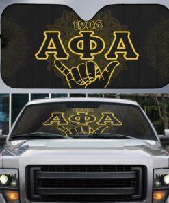 Alpha Phi Alpha, Fraternity Hand Sign Mandala Pattern, Car Sun Shade