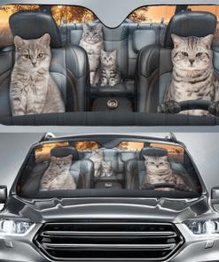 American Shorthair Family, Cat Auto Sun Shade, Cat Lover
