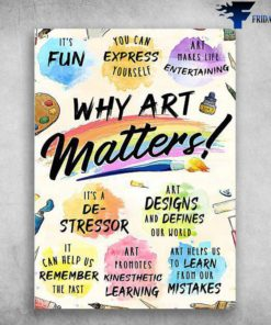 Art Class - It's Fun, You Can Express Yourself, Art Makes Life Entertaining, Why Are matters, Painting Class, Back To School