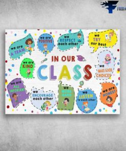 Back To School - In Our Class, We Are A Team, We Are Positive, We Respect Each Other, We Try Our Best, We Are Kind, We Make Good Choices, We Are All Important