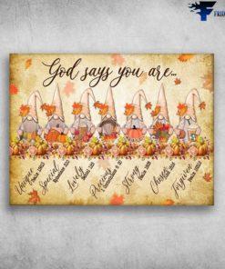 7 Autumn Dwarfs - God Says You Are, Unique, Special, Lovely, Precious, Chosen, Forgiven