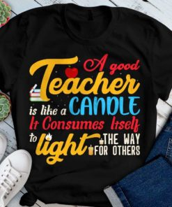 A good teacher is like a candle, it consumes itself to light the way for others - Teacher the educational job