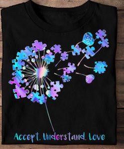 Accept understand love - Autism awareness, puzzle awareness symbol