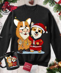 Santa Clause And Corgi, Pajama Christmas - Corgi Costume, Santa Claus Costume