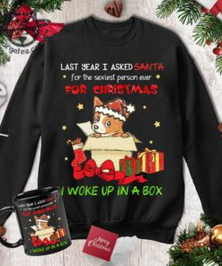 Christmas Corgi Gift - Last year i asked santa for the sexiest person ever for christmas i woke up in a box