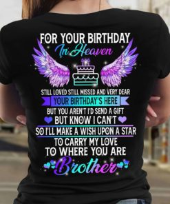 For your birthday in heaven - Brother in heaven, Birthday of Brother