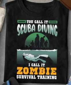 You call it scuba diving I call it zombie survival training - Diving to survive, Halloween zombies